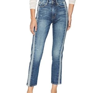 Hudson Zoeey High Rise Straight Ankle Jeans New